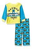 DC Comics Boys' Toddler Batman 2-Piece Pajama Set, Night Hero, 3T