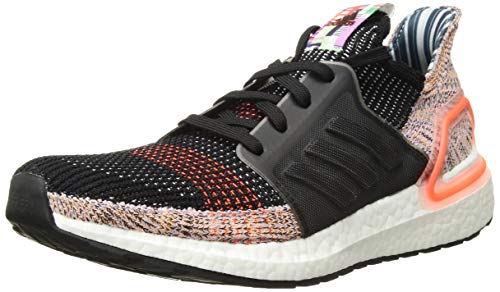 adidas Women's Ultraboost 19 Running Shoe, Black/Crystal White/Solar Orange, 3.5 UK