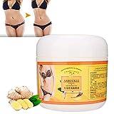 Crema adelgazante, 300G Crema anticelulítica Masaje de jengibre, Crema reafirmante para esculpir el vientre unisex, adelgazar, quemar grasa, crema para perder peso corporal