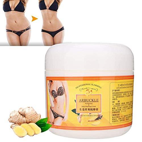 Afslankcrème, 300G Anti Cellulitiscrème Massage Gember, Verstevigende Crème voor Unisex Beeldhouwen Buik Afslanken Vetverbranding Lichaam Afvallen Crème