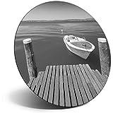 Destination Vinyl ltd Impresionante imán para nevera, nevera BW – Lago de Garda Italia italiano para oficina, gabinete y pizarra, pegatinas magnéticas, 39212