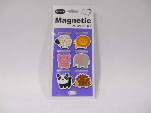 Small Animals Mini Illustrated Magnetic Page Clips Set of 6