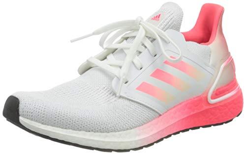 adidas Ultraboost 20 J, Zapatillas de Gimnasio Unisex Niños, FTWR White Signal Pink Signal Pink, 35.5 EU