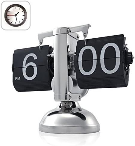 FLORLIFE Digital Auto Flip Down Clock Retro Desk Internal Gear Operated 11x8 7x5 5 inches Black product image