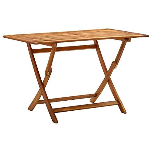 vidaXL Akazienholz Massiv Gartentisch Klappbar Terrassentisch Balkontisch Gartenmöbel Tisch Klapptisch Esstisch Holztisch 120x70x75cm