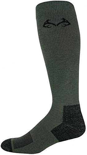 Realtree Men's Insect Shield Over The Calf Socks, Olive, Large