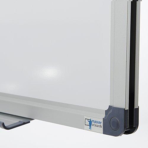 MOB Whiteboard Economy | Testnote 1,5 | schutzlackierte Magnettafel beschreibbar – im stabilen Alurahmen | als Magnetwand, Memoboard – 90x120cm - 3
