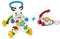 Fisher Price Lauflernwagen + Plappertelefon Kleinkinder Spiele-Set Laufen Lernen
