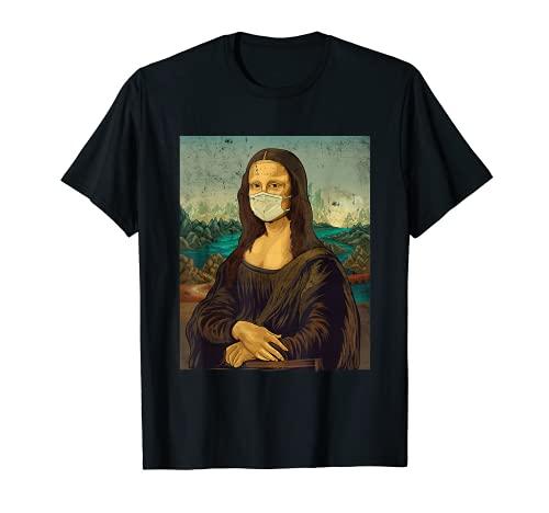 Mona Lisa con paradenti Leonardo Da Vinci Maglietta