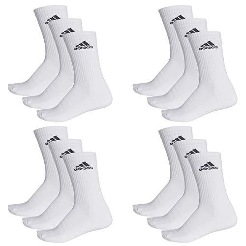 adidas 12 Paar Performance CUSHIONED CREW 3p Tennissocken Sportspocken Unisex, Farbe:White, Socken & Strümpfe:43-45