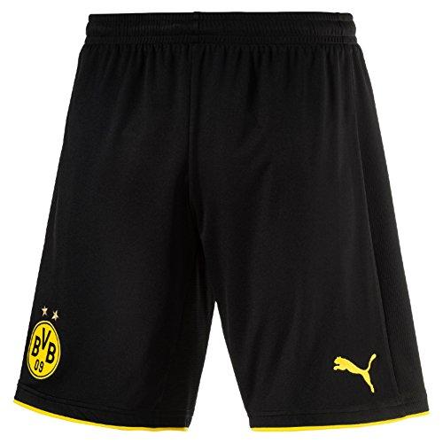 PUMA Herren Hose BVB Replica Shorts with Innerslip, schwarz-Black/Cyber Yellow, M