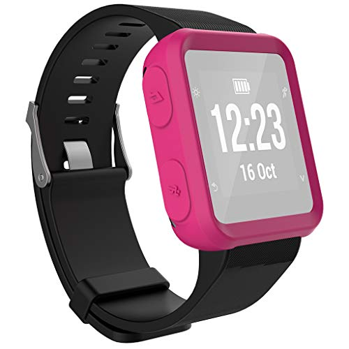 Shan-S Compatible for Garmin Forerunner 35 Case, Soft TPU Protection Silicone Full Case Cover Shell Silicone Frame Shockproof Protective Bumper Case for Garmin Forerunner 35 Smartwatch