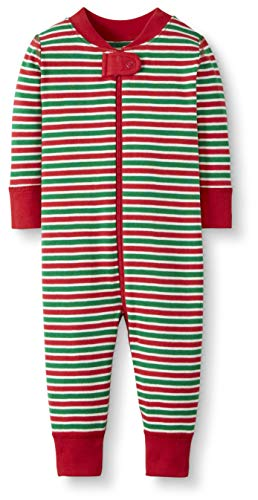 Moon and Back One Piece Footless Pajamas infant-and-toddler-sleepers, Red/Green Stripe, 0-3 Monate (46-56 CM)