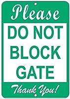ゲートを塞がないでくださいありがとうございます! 駐車場看板アルミ金属看板