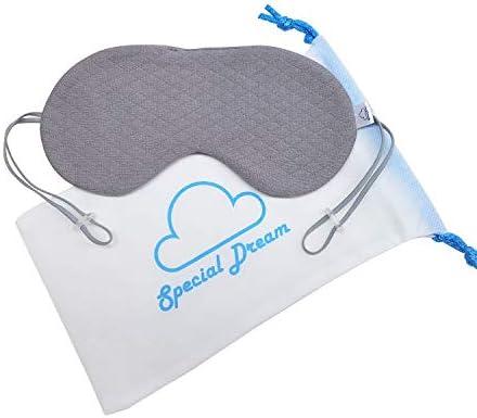 Special Dream Organic Cotton Sleep Mask Gray Eye Mask for Sleeping Blackout Blindfold Best Sleep product image