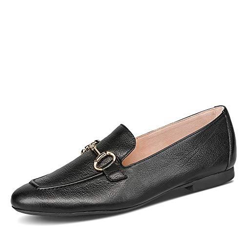 Paul Green Damen 2596 Slipper Glattleder Uni Blockabsatz weich gepolstert Schuhe, Groesse 38, schwarz