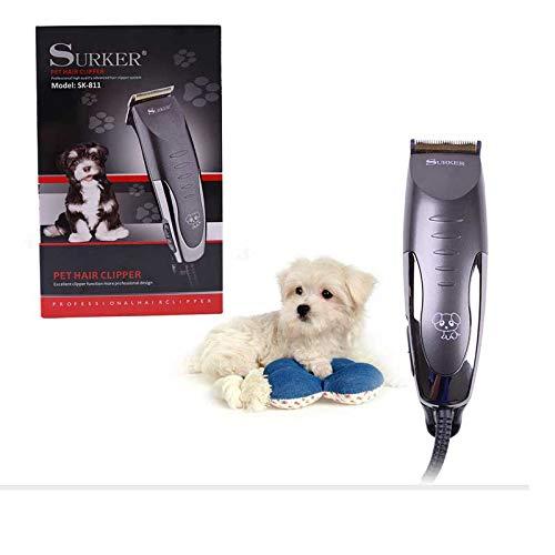 Máquina eléctrica de corte de pelo mascotas Surker SK-811. Cortadora de pelo profesional para perros, eléctrica recargable. Maquinilla eléctrica recargable para perro. Cortadora de Pelo para p