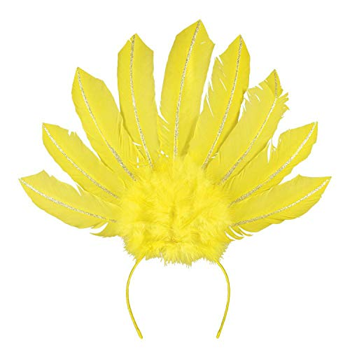 Boland 52103 Haarreif Samba Neon gelb