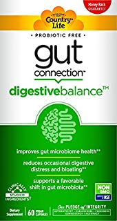 Country Life Gut Connection - 60 ct - Digestive Balance - Help Improve Gut Microbiome Health - Reduces Occasional Digestive Distress & Bloating - Supports Favorable Shift in Gut Microbiota