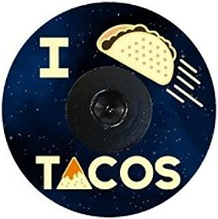 Bikelangelo I Love Tacos Designer Headset Stem Cap with Bolt