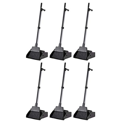 AmazonCommercial Lobby Dustpan with Broom set - 6-Pack