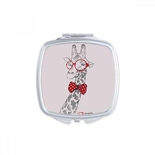 DIYthinker Lunettes Leopard Beau carré Maquillage Compact Miroir de Poche Miroirs Mignon Petit Cadeau Portable à la Main Multicolor