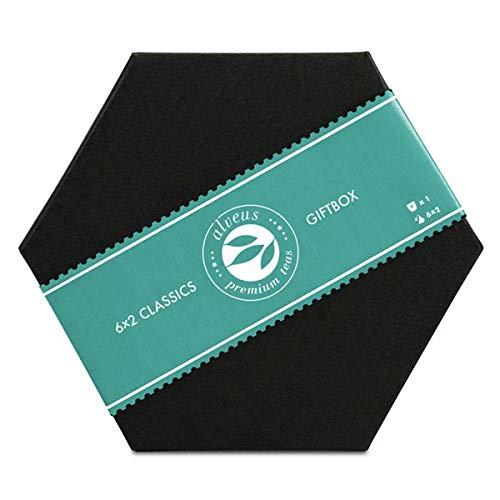 Tee im Beutel Geschenkset mit Doppelwandigem Teeglas: 6x2 Bio Premium Sorten Grüntee, Schwarztee, Kräutertee - das ideale Geschenk-Set von alveus