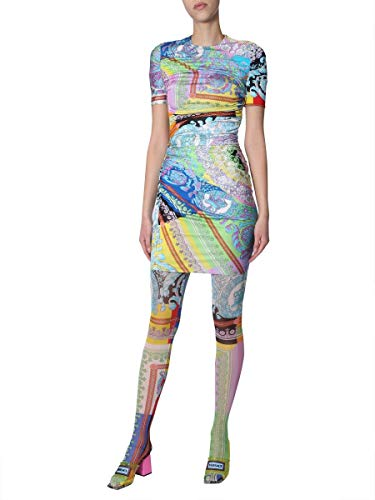 Versace Luxury Fashion Damen A82844A230037A7000 Multicolour Leggings | Frühling Sommer 19
