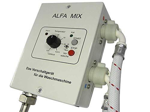 Waschmaschinen Vorschaltgerät Sparsteuerrung Alfa Mix inkl. 2 Zulaufschläuche - reduzieren Sie ca. 50% Ihres Strombedarfes