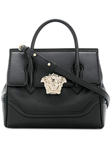Versace Luxury Fashion Donna DBFF452DSTVTD410C Nero Pelle Borsa A Mano | Stagione Outlet