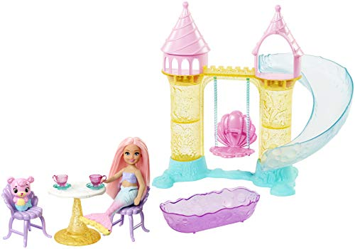 Barbie Dreamtopia Chelsea Mermaid Doll, Merbear Figure and Playground Playset