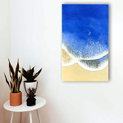 Harz Ozeankunst, Strandkunst, Konzeptkunst, Blau, Fließende Kunstmalerei, Seelandschaft, Naturkunst, Harzkunst, Wandkunst,