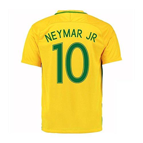 Neymar Jr #10 Brazil Home Soccer Jersey Copa America Centenario 2016 Youth. (YS) Yellow