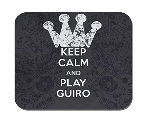 Makoroni - Keep Calm and Play Guiro - Non-Slip Rubber - Computer, Gaming, Office Mousepad