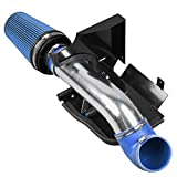 MILLION PARTS 4'' Cold Air Intake Filters System with Heat Shield 4.8L 5.3L 6.0L V8 Blue