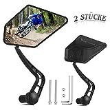 AmzKoi Fahrradspiegel 2 Stücke, Fahrrad Rückspiegel für Lenker 360° Drehbar Fahrrad Spiegel Lenkerspiegel für 17.4-22mm Innendurchmesser Fahrrad Lenker Ebike Rennräder Mountainbikes