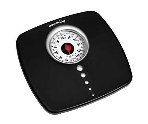 Innofit INN-104 - Báscula de baño (Analógico, Negro, Gris, Plata, 285 mm, 265 mm, 45 mm, 1,65 kg)
