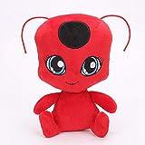 ZWWB Ladybug peluche muñeca juguete y condesa gato negro bolso de juguete Barrio Sésamo muñeca niños Navidad fiesta de cumpleaños regalo -15cm
