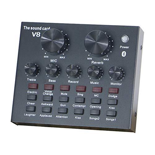 Sansund KTV Live Broadcast Mini Audio Mixer Soundkarte Konsole Mikrofon Studio Aufnahme für Handy Computer externe Soundkarte Standard