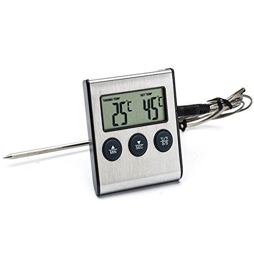 ILS – Digital elektrisches BBQ Timer Thermometer Grill für Küche Cooking