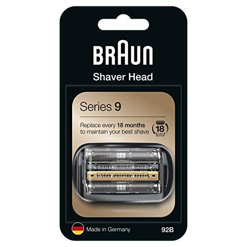 Braun 92B - Recambio/Repuesto para afeitadora eléctrica, compatible con las máquinas de afeitar Series 9, color negro