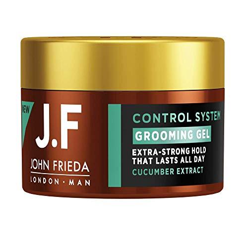 John Frieda Man Grooming Gel - Styling - Extra-starker Halt - Mit Gurken-Extrakt, 90 ml