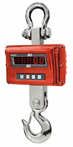 Kern HFO 3T1M - Balanza industrial de grúa, con control remoto por radio y con declaración de aprobación [M], Campo de pesaje [Max]: 3000 kg, Lectura [d]: 1000 g, Incl. HOMOLOGACIÓN