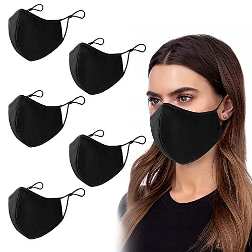 PIPRE Stoffmasken Wiederverwendbar, Hochwertiges Gesichtsmaske Waschbar, Multifunktional Trainingsmaske für Radfahren, Laufen, Staubschutzmaske für Damen, Herren