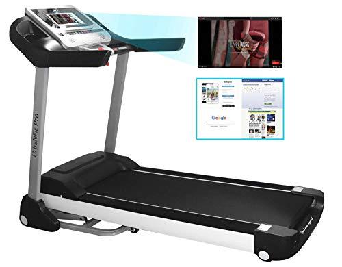 UrbanFit Pro Caminadora Electrica 3.75 HP Pantalla 10.1″ Touch WiFi Inclinacion Automatica – Negro