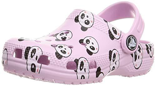 Crocs Classic Panda Print Clog, Zoccoli Unisex-Bambini, Ballerina Pink, 28 EU
