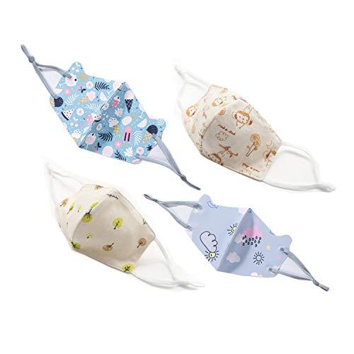 Tokkids Set mascherine in tessuto lavabili e riutilizzabili per bambini (TypeA)