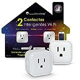 Lloyd's Set de 2 Contactos Inteligentes WiFi Smart Plugs Compatibles con Alexa, No Requieren Hub
