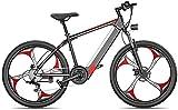 Bici elettriche Bici elettrica da 26 pollici Bicicletta di grasso pneumatici da neve Bicicletta da neve Bicicletta da mountain bike uomo Dual Disc Freno a disco in lega di alluminio per adulti e adole