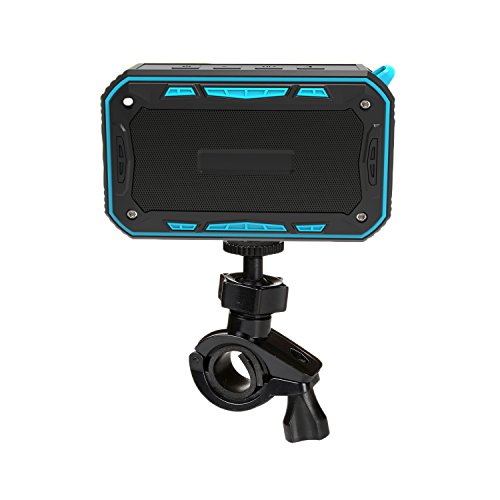 Waterproof Bluetooth Speaker,Outdoor Speaker with Bicycle Holder, Louder Volume 6W+,Hands Free/FM Mode/AUX Input/TF Card, 2000Mah Emergency Charging Perfect for Beach Shower Outdoor(Blue)